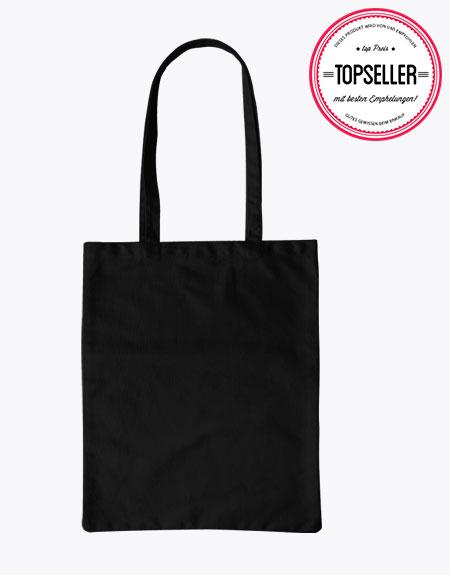 10 Baumwolltragetasche Einkaufstasche schwarz Tasche 130g 38x42cm kurzer Henkel